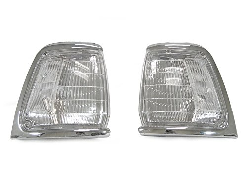 Toyota Clear Corners - CPW (tm) 1989 1990 1991 TOYOTA PICKUP TRUCK 2WD TWO WHEEL DRIVE CLEAR FRONT CORNER LIGHTS