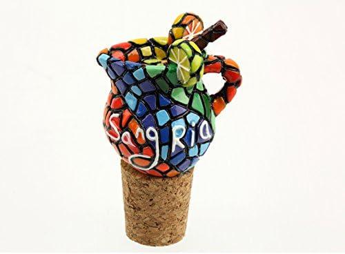 CHAR Tapón de Botella Corcho Ceramique mosaicos Gaudi sangría ...