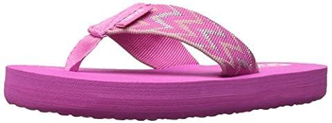 Teva Girls' Mush II Sandal, Cruz Pink, 4 M US Big Kid (Kid Teva Flip Flops)