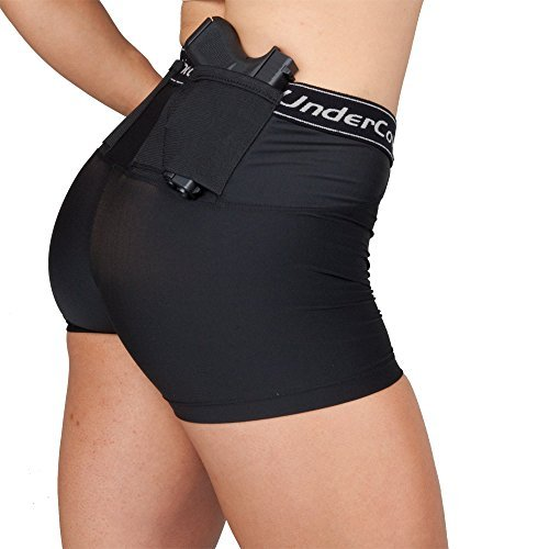 UnderTech UnderCover Women's Concealed Carry Short Shorts (Black, Large)