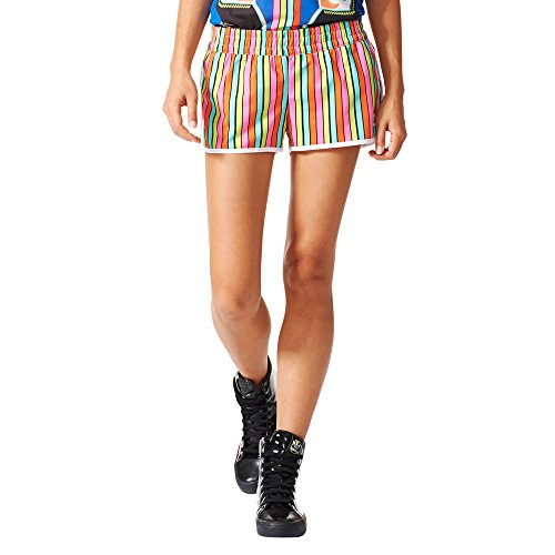 AJ8159 in Short ADIDAS tessuto donna bunt multicolor Stripes shorts Pantalone q6Fw88