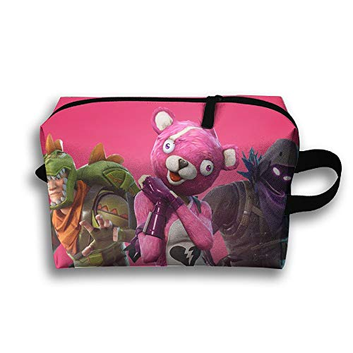 H2Oo Rex Cuddle Team Leader Raven Rex 3D Printed Canvas Cartoon Coin Wallet Cosmetic Pen Pencil Box Pouch Zipper Up Bag Stationery Hanging ()