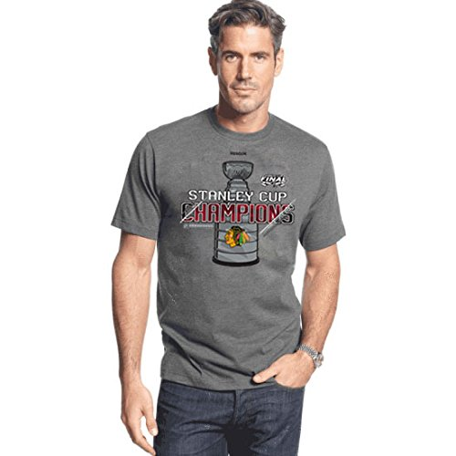 Chicago Blackhawks 2015 Stanley Cup Champions Locker Room Shirt by Reebok Select Size: Small