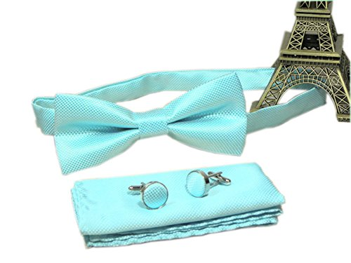 lue Bow Tie Set Woven Work Slim Fun Party Celebration Bowtie ()