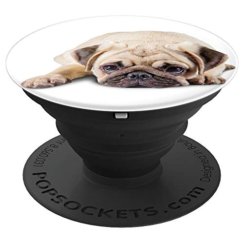 Pug Puppy Dog Cute Pop Pugs Lover Pug Mom Dad Gifts Funny - PopSockets Grip and Stand for Phones and Tablets]()