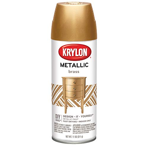 Krylon K02204007 General Purpose Aerosol, 12-Ounce, Brass Metallic Finish