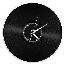 VinylShopUS Recycled Record Vinyl Wall Clock Minimalistic