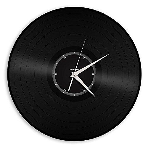 VinylShopUS – Recycled Record Vinyl Wall Clock Minimalistic