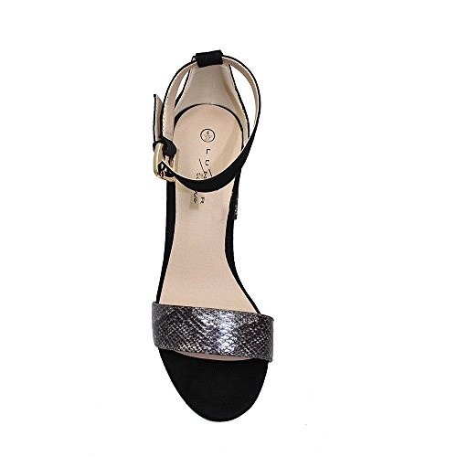 Lunar FLV357 Solange Block Heel Sandal Black 4cv5q