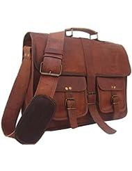 natural leather bags Mens 16 Laptop Bag Shoulder