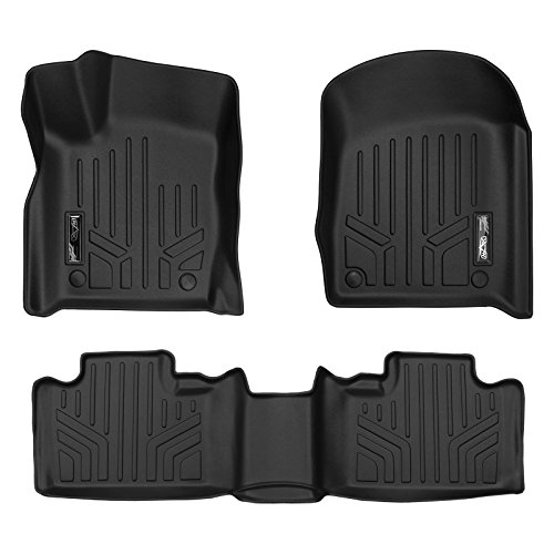 MAX LINER A0315/B0071 Custom Fit Floor Mats 2 Row Liner Set Black for 2016-2019 Jeep Grand Cherokee/Dodge Durango