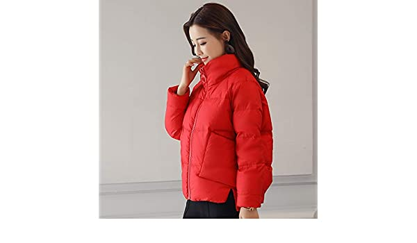 Amazon.com: Lannmart Slim Thick Short Female Jacket Coat Causal Stand Collar Warm Winter Jacket Women 2018 Down Parkas Cotton Padded Jacket Girls: Kitchen & ...