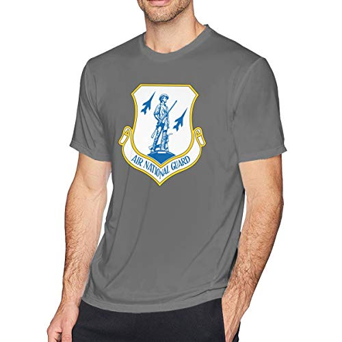 US Air Force Air National Guard Logo Athletic Men's Performance Cotton Short Sleeve T-Shirt Deep Heather S