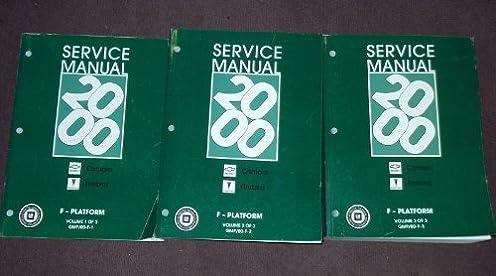 2000 chevy camaro firebird service shop manual set oem 3 volumes rh amazon com 2000 camaro z28 service manual Manual Nissan Skyline