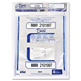 PM Company 12 x 16 Triple Layer tamper evident plastic deposit bag, 100 per Pack, 5 Packs (58049)