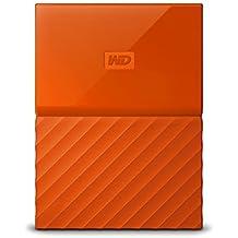 WD 3TB Orange My Passport Portable External Hard Drive - USB 3.0 - WDBYFT0030BOR-WESN