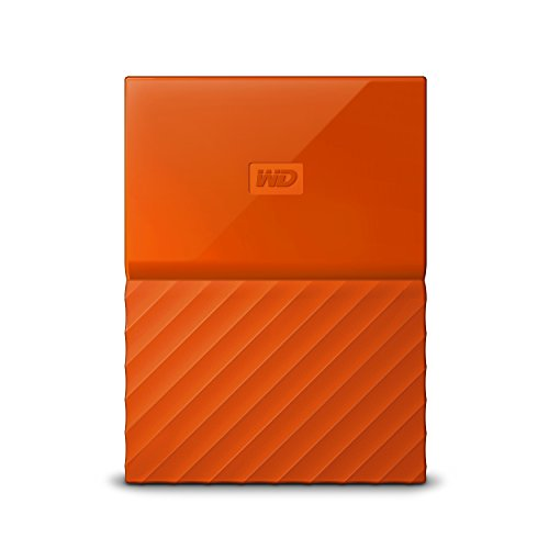 WD 2TB Orange My Passport  Portable External Hard Drive - USB 3.0 - WDBYFT0020BOR-WESN