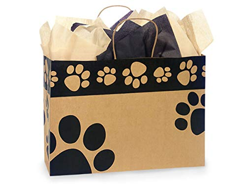 Nashville Wraps Shopping Gift Bag 25 Count - Paw Print - Vog