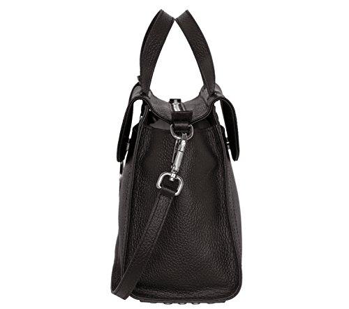e58e1539e8db9 SILVIO TOSSI Damen Leder Handtasche Schultertasche Schwarz Modell 12709-01   Amazon.de  Koffer