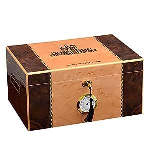 Caja de cigarros, Humidor de cigarros de madera de cedro con ...