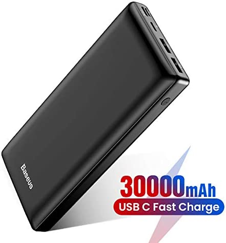 Baseus Batería Externa 30000mAh,Power Bank Cargador Móvil Portátil con USB C PD para iPhone iPad Samsung Dispositivos Android Tablets y Más Nergo