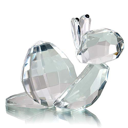 H&D Crystal Snail Figurine Collectiables Christmas Table Decorations Paperweight 2.42.1 inch