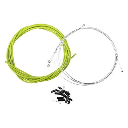 Cycling Bike Bicycle Housing Cable Brake Gear Shifter Kit Set (Green)