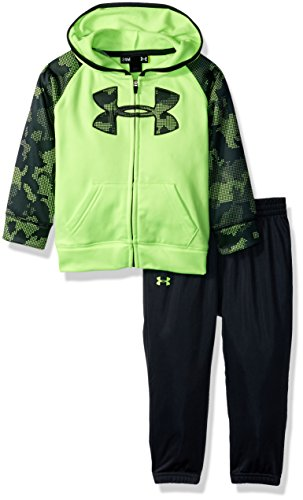 Under Armour Baby Boys' Utility Hoody Track Set, Quirky Lime, 18M