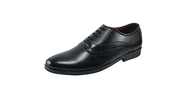 Formal Synthetic Leather Shoes Vonzo Oxford Dress Shoes for Men Casual Classic Mens Shoes Black