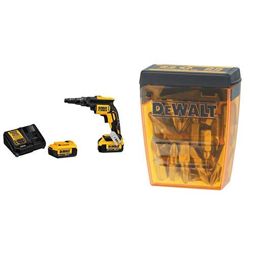 DEWALT DCF622M2 20V MAX XR Versa-ClutchTM Adjustable Torque Screw Gun with DEWALT DW2002B25 #2 Phillips Bit Tip (25-Pack)