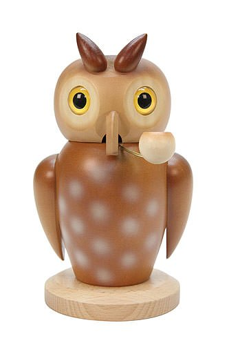 German Incense Smoker Owl - 18,0 cm / 7 inch - Christian Ulbricht