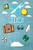 Benin: Travel Journal Notebook 120 Pages 6x9 Inches - Vacation Trip Planner Travel Diary Farewell Gift Holiday Planner