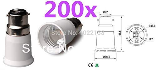 Halica 200pcs B22 to E27 LED socket adapter Lamp Holder Converter For Led Light Bulb Lamp With Tracking No.