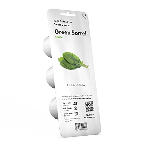 Click and Grow Smart Garden Green Sorrel Plant Pods, 3-Pack