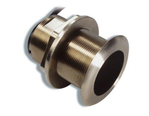 Raymarine E66085 Depth Transducer W/ Temp, Mfg# , 50/200khz, 600 Watt, 45/12 Deg Beam Angles, With Temperature Sensor. B60 Bronze Low-Profile Thru-Hull (2.4
