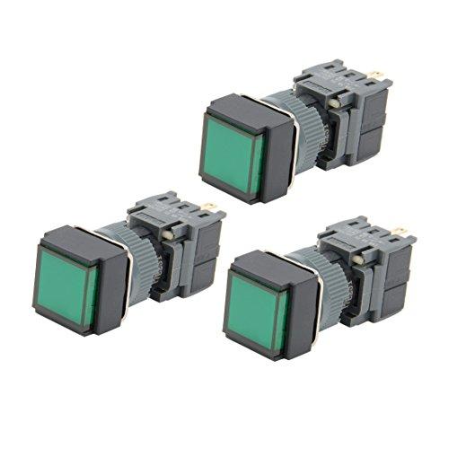 uxcell 押しボタンスイッチ AC 250V 0.5A SPDT 瞬時押し ボタンスイッチ 3個入り