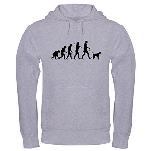 Mens Terrier Airedale Hoodie (CafePress Airedale Terrier Hooded Sweatshirt Pullover Hoodie, Classic & Comfortable Hooded Sweatshirt Heather Grey)
