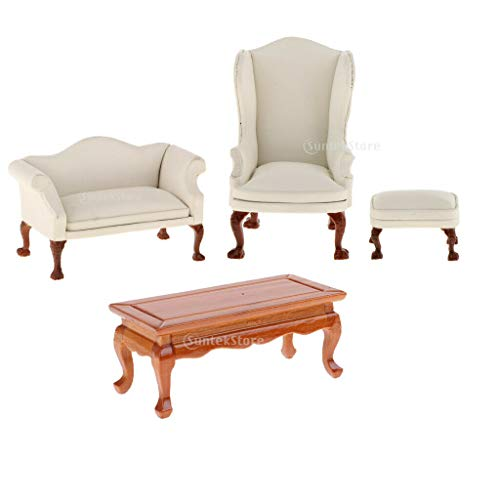 NATFUR Dolls House End Table Sofa Living Room Furniture 1/12 Scale Accessories