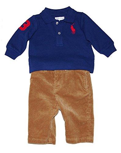 Ralph Lauren Baby Boys Big Pony Polo Shirt & Corduroy Pants Set (3 Months)