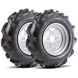 Bricoferr PT60001 Ruedas metálicas (aperos de motoazada): Amazon ...