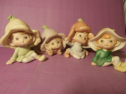 Homco Pixie Figurines - Set of 4