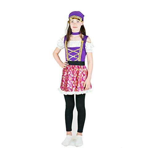 Bodysocks Girls Gypsy Princess Fancy Dress Costume (6-8 Years) ()