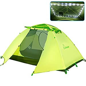WolfWise 2-Person 3-4 Season Backpacking Tent with USB LED Light String Green  sc 1 st  Outdoor Recreation & Backpacking Tent | What is the best Backpacking Tent? | Outdoor ...