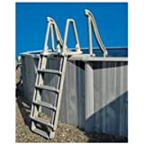 """NEW Confer Above Ground 8100X Swimming Pool Ladders Outside Steps Ladder 48""""-54"""""""