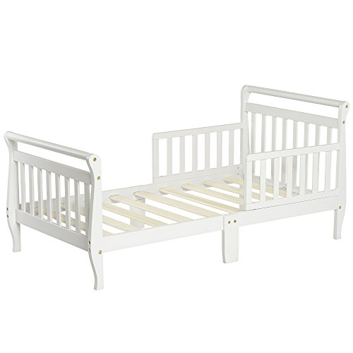 (Dream On Me Classic Sleigh Toddler Bed, White )