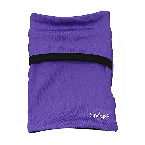 (Sprigs Banjees 2 Pocket Wrist Wallet - Purple/Black, One Size Fits Most)