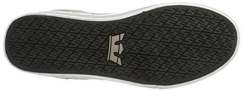 SupraVaider Alte white Khaki Uomo SupraVaider Sneakers Sneakers Grau Charcoal Vintage 7dwvzZqnx