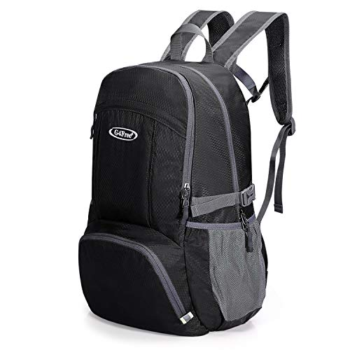 G4Free Lightweight Backpack 35L Water Resistant Travel Hiking Daypack Handy Packable Backpack for Outdoor Camping(Black)