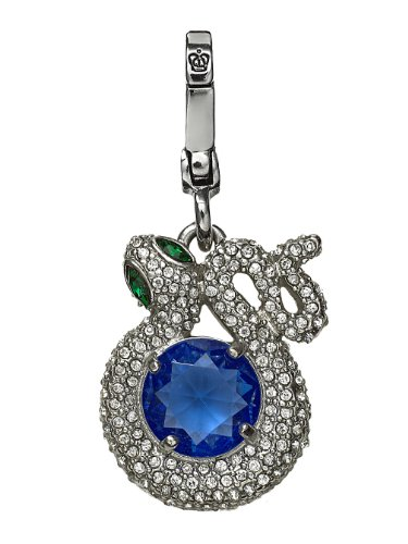 Juicy Couture Pave Snake W Blue Center Charm, Silvertone (Juicy Couture Charm Box)