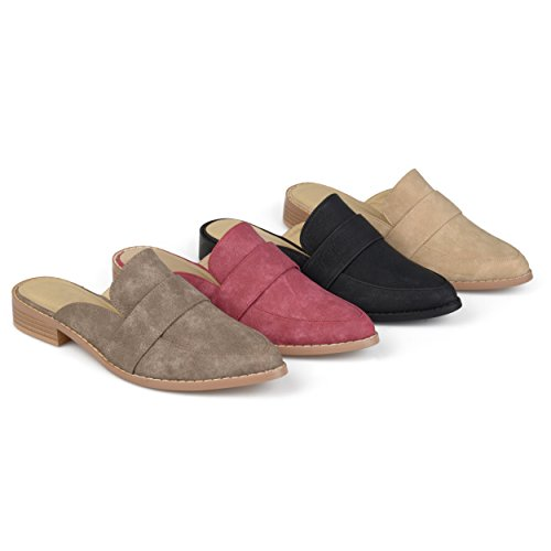 Image of Brinley Co. Womens Faux Leather Slip-on Almond Toe Mules